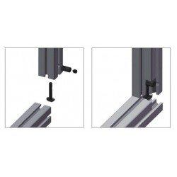 Joint de serrage rapide pour profilé à fente de 8 mm - angle 0°