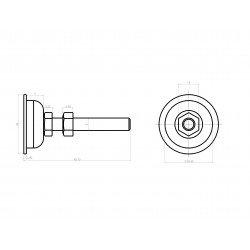 Pieds pour profilés à fente de 8 mm