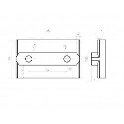 Slider for 8mm profiles
