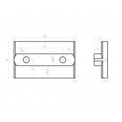 Slider for 10mm profiles