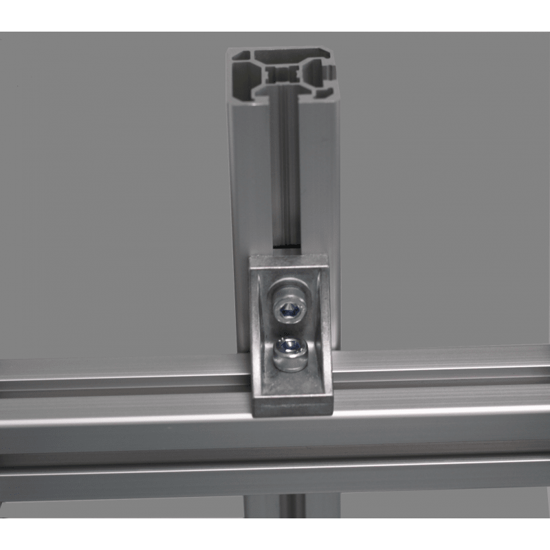 Fastening bracket for 10mm profiles – for cross fastening with fastening hole – for 40 or 80 profiles