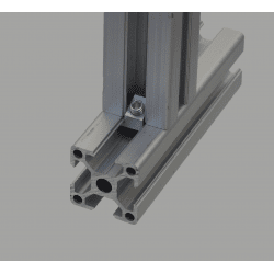 Fixation par raccord perpendiculaire pour profilé à fente de 8 mm