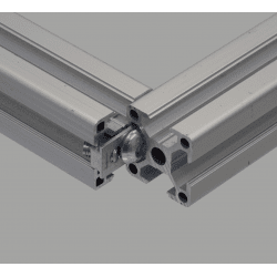 Orthogonal connector for 8 mm slot profile