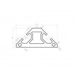 Triangular aluminium profile 30x30 – 8mm slot