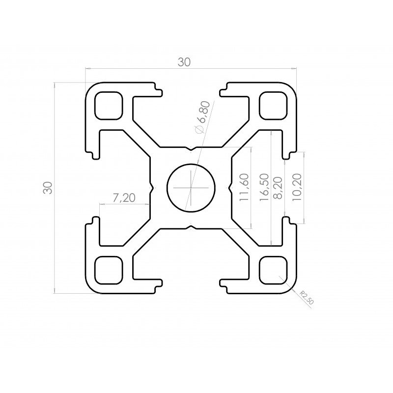 Aluminiumprofile 30x30 Mm Slot 8 Rlxdatppabzpiynfn