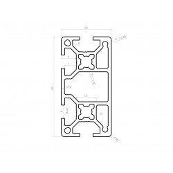 Profilé aluminium 30x60 fente 8 mm