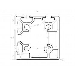 Aluminium profile 60x60 8mm slot