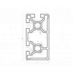 Profilé aluminium 40x80 fente 10 mm