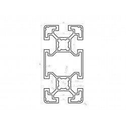 Aluminium profile 40x80 10mm slot black anodised – light