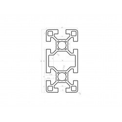 Profilé aluminium 40x80 fente 10 mm anodisé noir