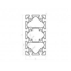 Profilé aluminium 80x160 fente 10 mm