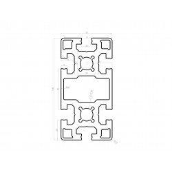 Profilé aluminium 50x100 fente 10 mm