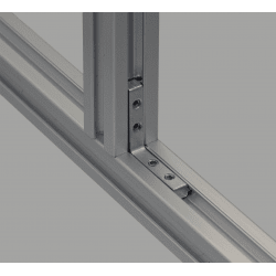 Equerre de fixation interne longue profilés 6 mm