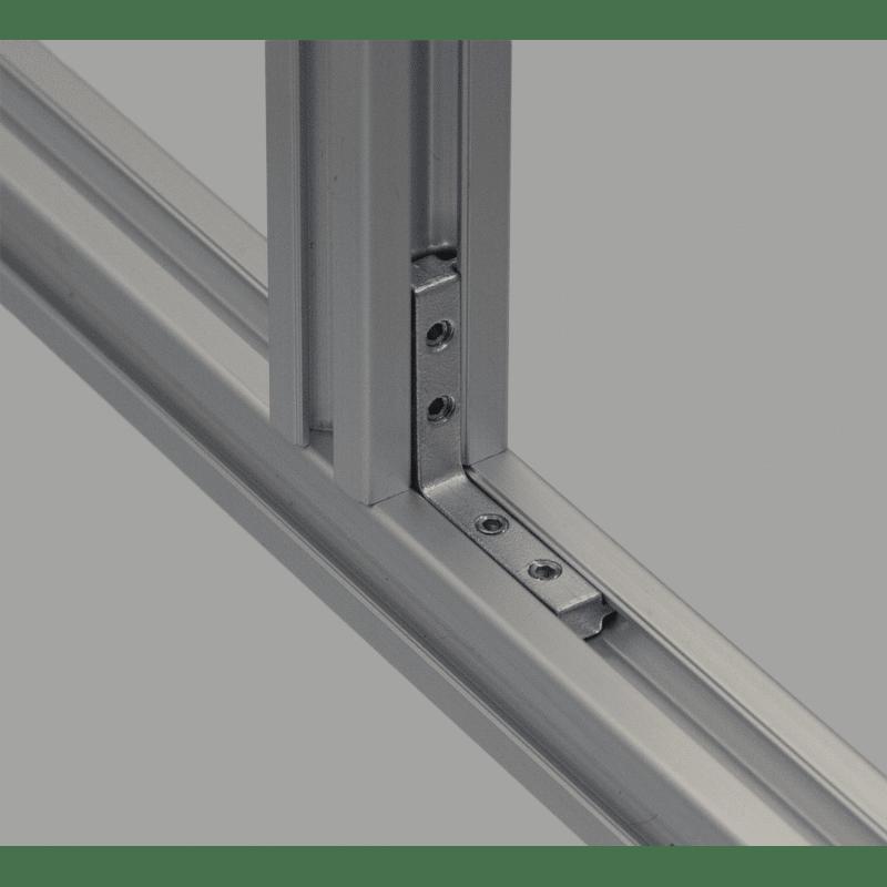 Long inner fastening bracket for 6mm profiles