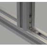 Inner fastening bracket for 8mm profiles