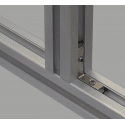 Inner fastening bracket for 40x40 profile with 8mm slot
