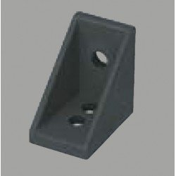 Black anodised fastening bracket for 6mm profile