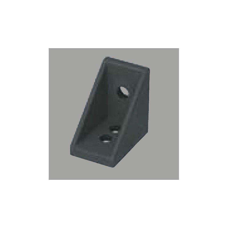 Fastening bracket for 6mm profile black anodised