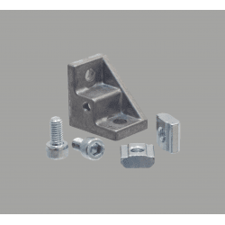 Fastening bracket for 8mm profiles with fastening hole