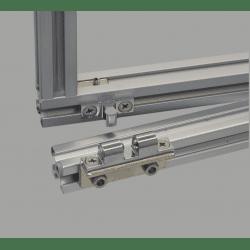 Loquet pour profilé aluminium fente 8 mm + visserie