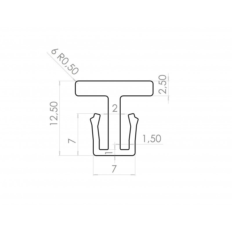 Connecteur rails de glissières / profilé aluminium 8 mm