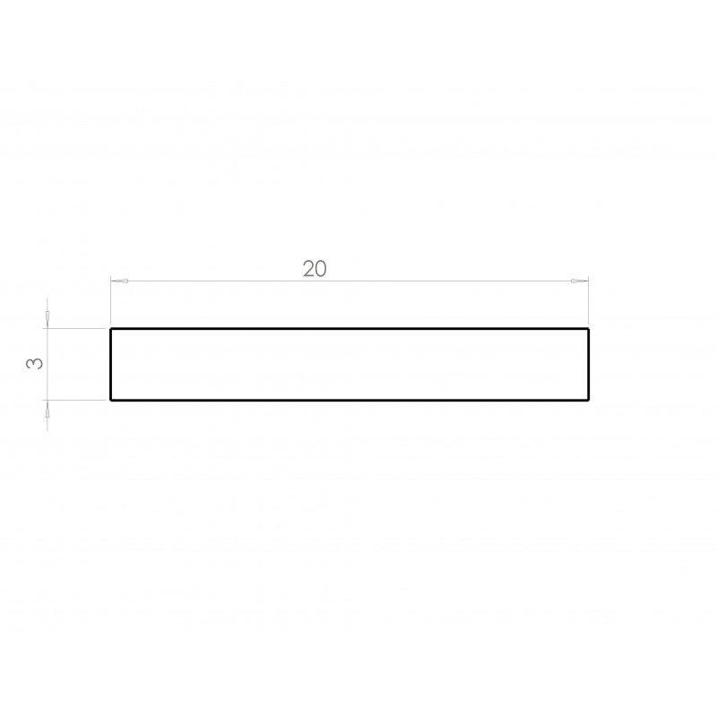 profil aluminium plat 20 mm paisseur 3 mm syst al. Black Bedroom Furniture Sets. Home Design Ideas