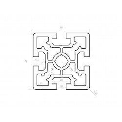 Aluminium profile 60x60 10mm slot