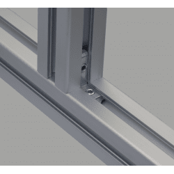 Equerre de fixation interne profilés à fente de 10 mm