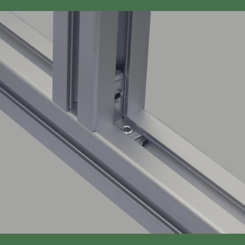 Inner fastening bracket for profile with 10mm slot