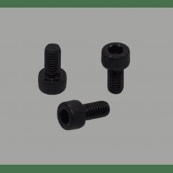 Lot de 10 vis de fixation noires pour profilé à fente de 6mm - Filetage M5 - Tête à six pans creux