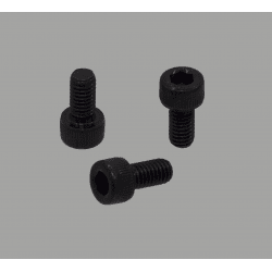 Pack of 10 black fastening screws for 8mm slot profiles – M6 threading – Socket cap screw