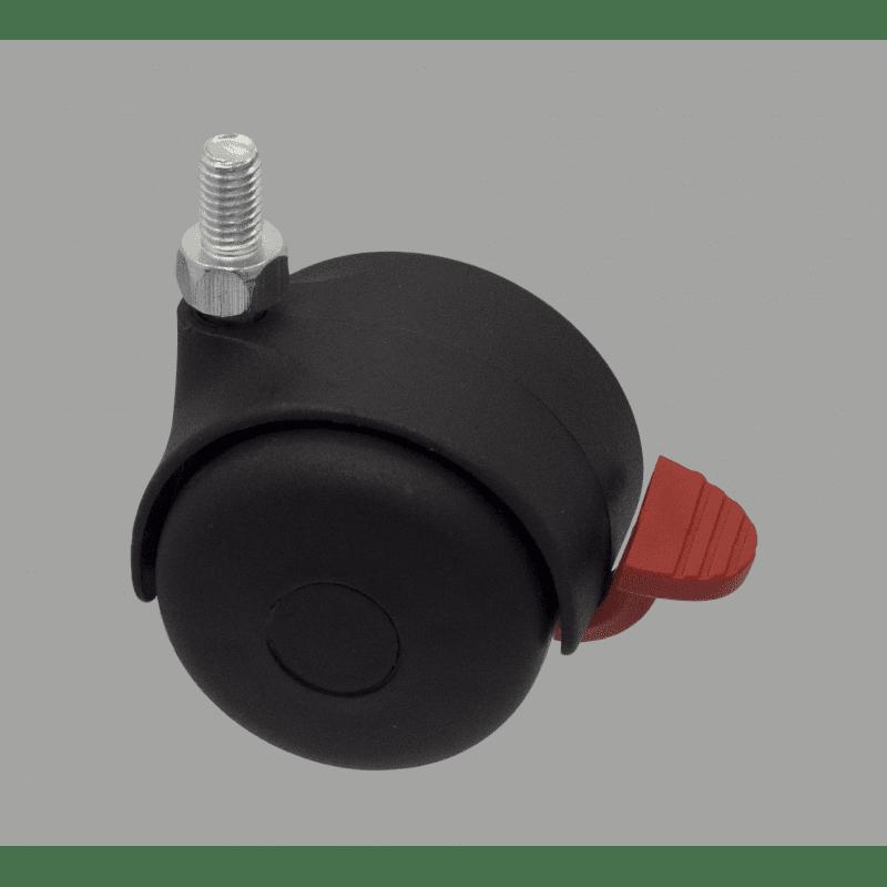 Wheel for medium load - with brake - M8 Thread