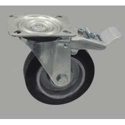 Wheel 250 kg load - plate mounting - With brake