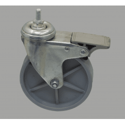 Wheel 80kg load - with brake - M8 Thread
