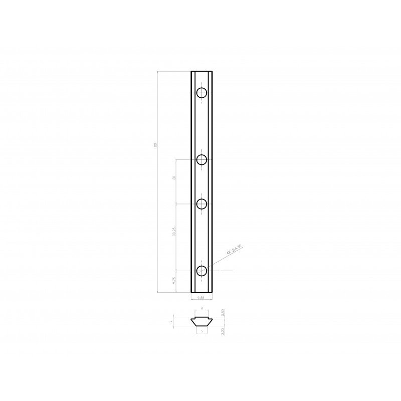 Long nuts for 6mm slot profiles – bolts/screws included