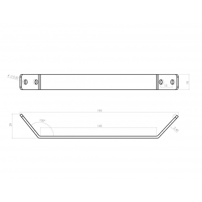 Support plate for 20x20 profile with 6mm slot