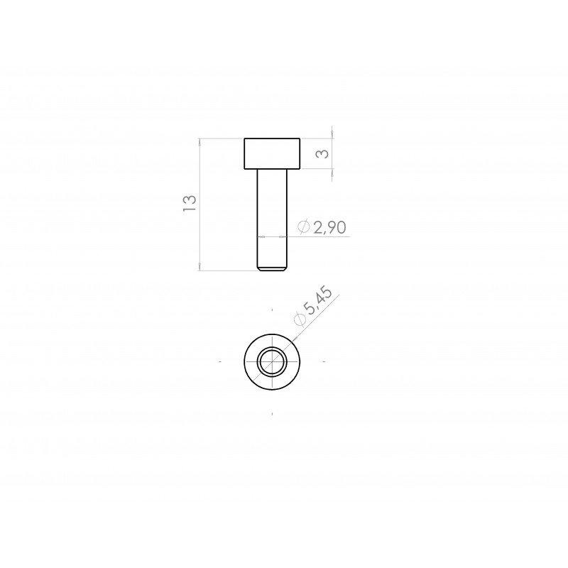 Lot de 10 vis de fixation - Filetage M3x10 - Tête à six pans creux