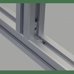 Equerre de fixation interne profilés 6 mm