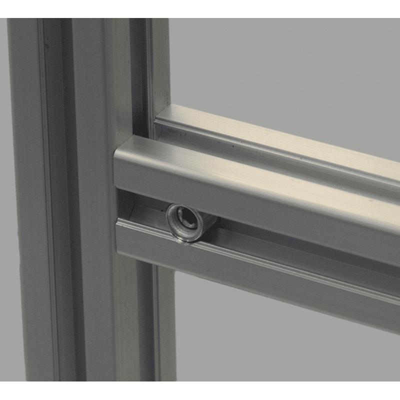 Quick connector for 10mm slot profile – 0° angle