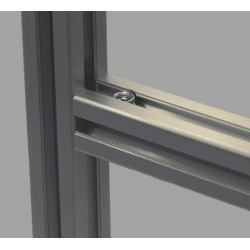 Quick connector for 8mm slot profile – 90° angle