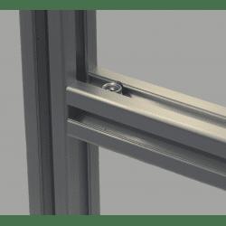 Joint de serrage rapide pour profilé à fente de 10 mm - angle 90°