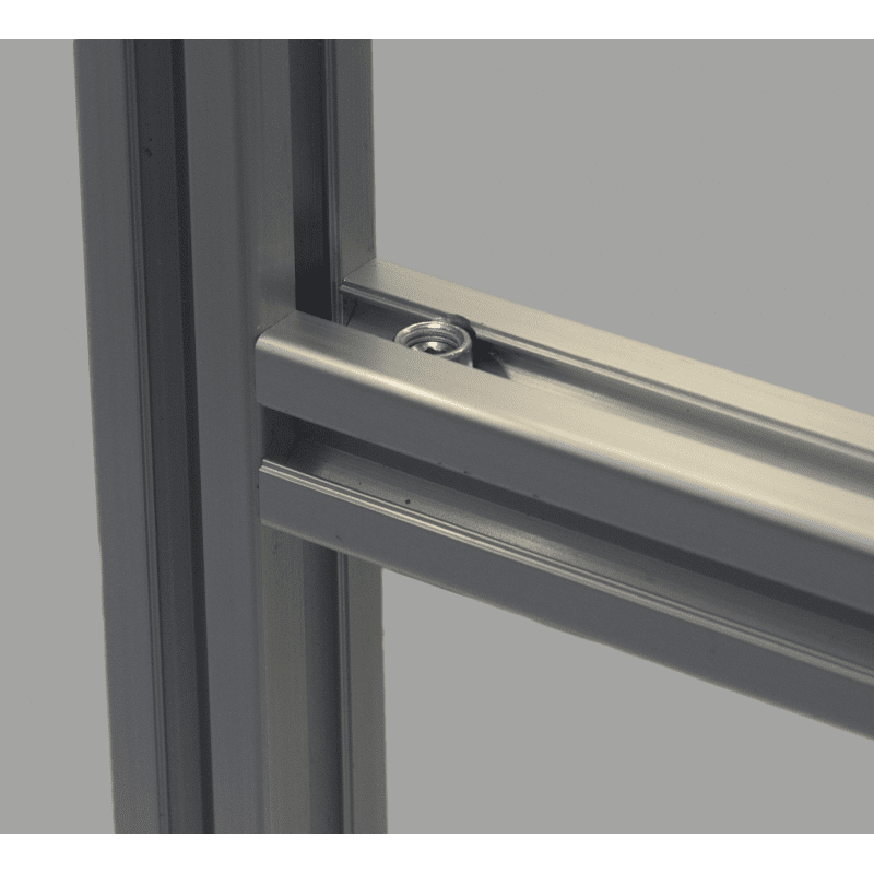 Quick connector for 10mm slot profile – 90° angle
