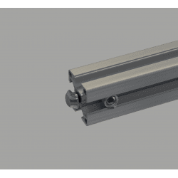 Quick connector for 8mm slot profile – 0° angle