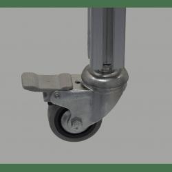 Wheel 35 kg load - with brake - M8 Thread