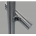 Tilting bracket for 45x45 profiles