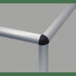 Raccord d'assemblage - 3 profilés arrondis 6 mm - Noir (trous Ø5 mm)