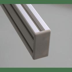 Embout de protection pour profilés aluminium 30x60 fente de 8mm - Gris