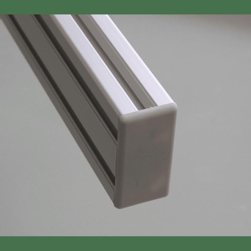 Embout de protection pour profilés aluminium 40x80 fente de 10mm - Gris