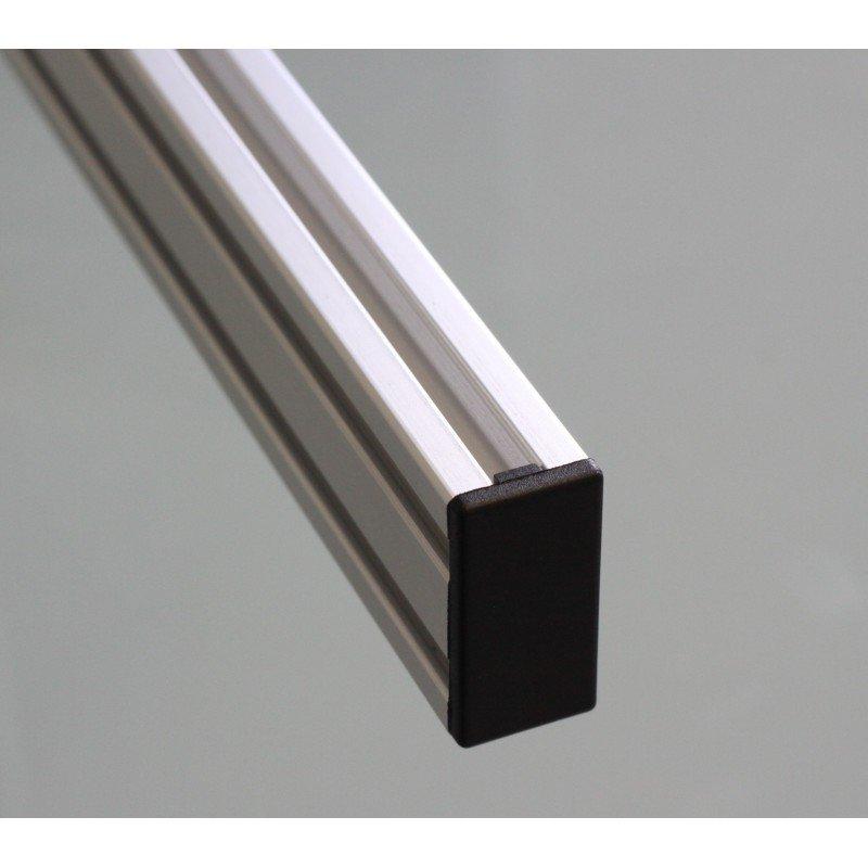 Protective cap for 40x80 aluminium profiles with 10mm slot – Black