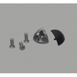 Assembly connector – three round 6mm profiles – Black (Ø5mm hole)